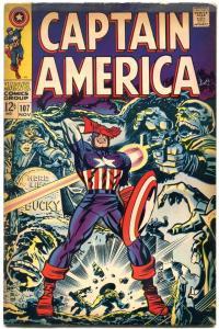 CAPTAIN AMERICA #107 1968 MARVEL COMICS JACK KIRBY ART FN
