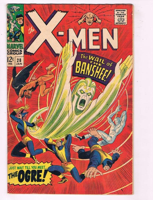 (Uncanny) X-Men # 28 FN/VF Marvel Comic Book 1st Appearance Of Banshee KEY MM1