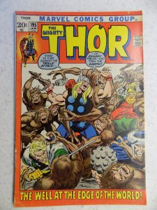 THE MIGHTY THOR # 195 MARVEL GODS JOURNEY ACTION ADVENTURE