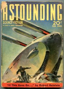 Astounding Pulp February 1940- Robert Heinlein- L Ron Hubbard G