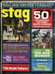 Stag  7/1970- Naked Hitch Hiker-Bruce Minney-Mort Kunstler-G/VG