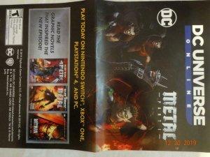 DC UNIVERSE ONLINE Promo Poster, 11 x 17, 2019, DC Metal,  Unused 383