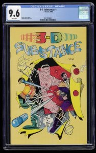 3-D Substance #1 CGC NM+ 9.6 White Pages Steve Ditko Scarce!