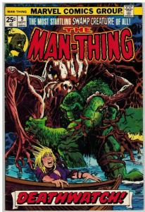 MAN THING (1974) 9 VG Sept. 1974