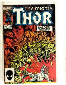 Mighty Thor # 344 VF Marvel Comic Book Hela Loki Odin Malekith Surter Hulk NP9