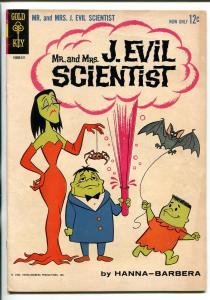 MR AND MRS J. EVIL SCIENTIST #1 1963-GOLD KEY-1ST ISSUE-HANNA-BARBERA-fn
