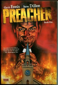 PREACHER Book 1 hardcover / dustjacket, 1st print, NM, Garth Ennis, Steve Dillon
