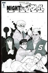 Night Owl Society #1 (Apr 2017, IDW) Retailer Variant Cover 9.4 NM
