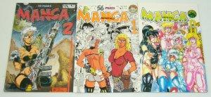 Manga Monthly #0 & 1-2 VF/NM complete series - tim tyler - fathom press set 1990