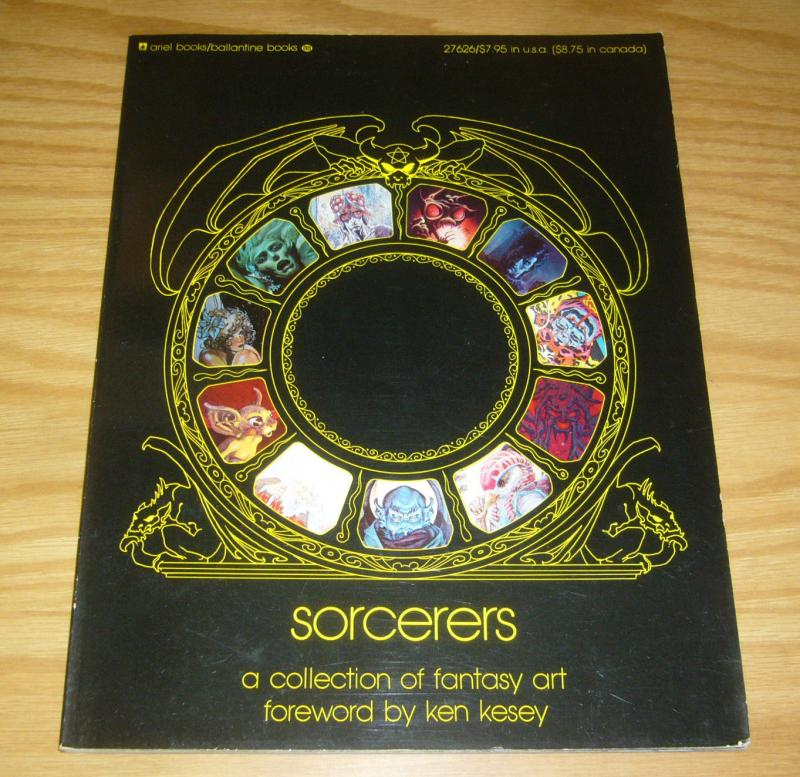 Sorcerers VG a collection of fantasy art - jack kirby - steranko - bruce jones