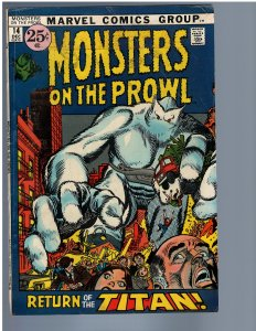 Monsters on the Prowl #14 (1971) FN+