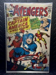 Avengers #4 | Comic Book Cover Replica | 11x17 Poster