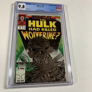 What If 50 Cgc 9.8 The Hulk Killed Wolverine? White Pages Marvel