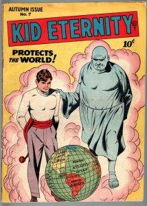 KID ETERNITY #7-1947-JIM BOWIE-GERONIMO-GOLDEN AGE COMIC-FN+ FN+
