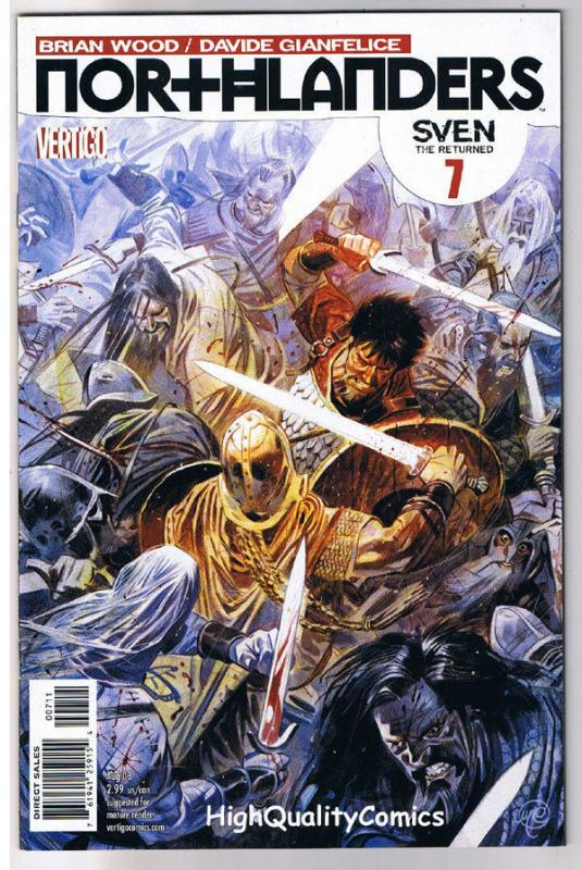 NORTHLANDERS #7, VF+, Vikings, Vertigo, Brian Wood, 2008, more in our store