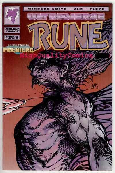 RUNE #3, NM+, Barry Smith, Vampire, 1994, Chris Ulm, more indies in store