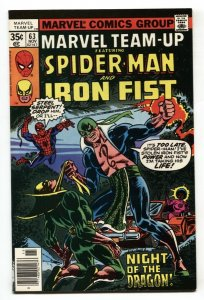 Marvel Team-up #63 1977 SPIDER-MAN AND IRON FIST NM-