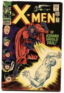X-MEN #18 1966-MARVEL COMICS-ICEMAN-MAGNETO-VG+