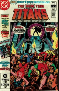 New Teen Titans #21 - VF - KEY - 1st Brother Blood / 1st Monitor