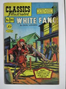 CLASSIC ILLUSTRATED #80 (G) WHITE FANG (1ST Edition, HRO=79) Feb 1951