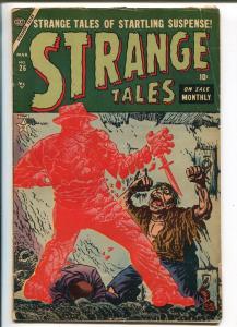 Strange Tales #26 1954-Atlas-pre-code horror-Gene Colan-Jack Katz-torture-G+