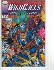 WildC.A.T.s #4 VF/NM in bag with variant red card - jim lee wildcats image comic