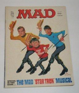 Mad Magazine #124 Star Trek Cover October 1976 EC Publications VF