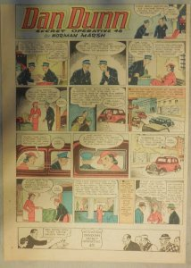 Dan Dunn Sunday by Norman Marsh from 9/4/1938 Tabloid Page Size!