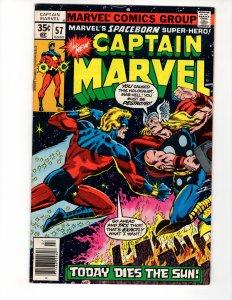 CAPTAIN MARVEL #57 (VG/VG+) 1¢ Auction No Resv!