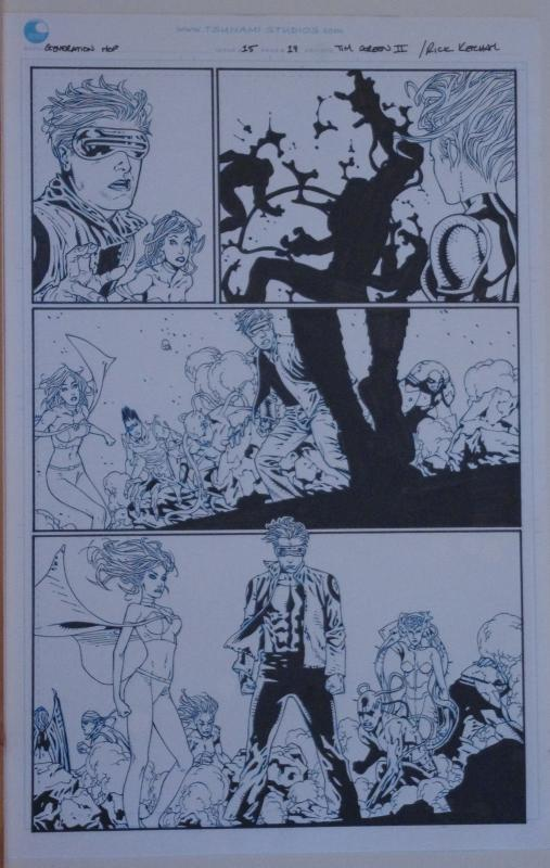 TIM GREEN II / RICK KETCHAM original art, GENERATION HOPE #15 pg 19, 11x17, 2012