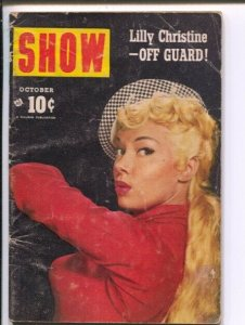 Show  10/ 1954- Hillman-Lilly Christine-Jackie Gleason-cheesecake-exploitatio...