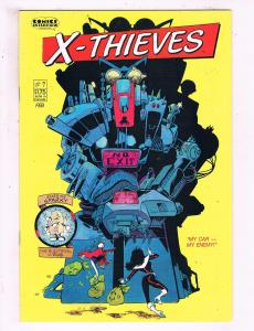 X-Thieves #7 VF Comics Interview Comic Book 1988 DE16