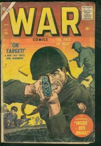 WAR COMICS #49-ATLAS-RARE FINAL ISSUE-LOGO CHANGE-1957 FR