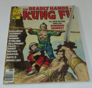 The Deadly Hands of Kung Fu #25 VF 1976 Martial Arts Magazine Sword Quest Bruce