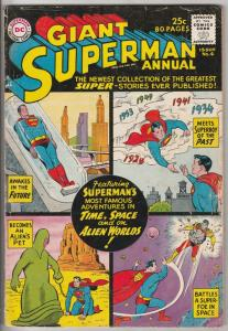 Superman, Giant Annual #4 (Jan-61) VG/FN Mid-Grade Superman, Jimmy Olsen,Lois...