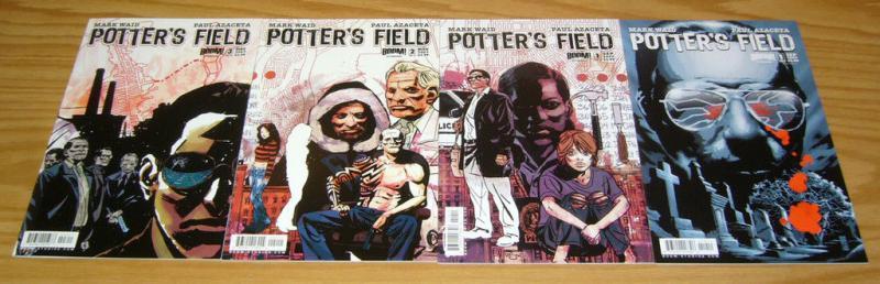 Potter's Field #1-3 VF/NM complete series + variant MARK WAID boom comics set 2