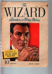 THE WIZARD 1940 OCT-#1-STREET AND SMITH PULP-RARE VG