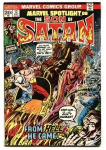 Marvel Spotlight #12 origin of Son of Satan-comic book- 1973