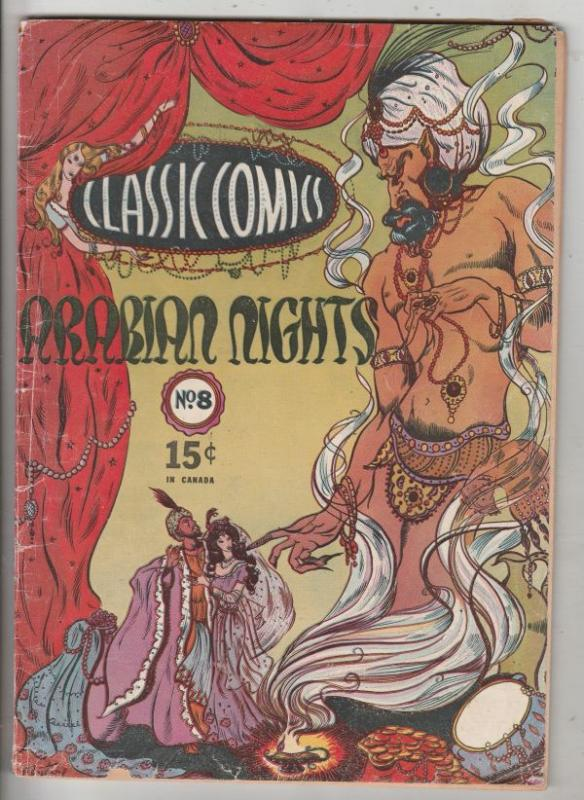 Classic Comics #8 (Jun-44) VG+ Affordable-Grade Aladan