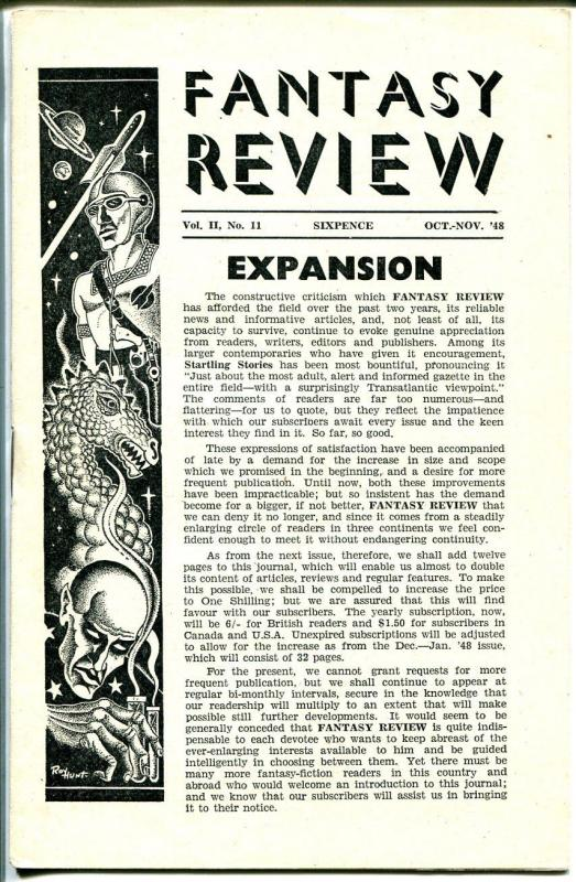 Fantasy Review 10/1948-British fanzine-pulp-fantasy-VF