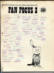 Fan Focus #3 1969-Inside DC- LA Comic Book Club-Mark Evanier-VG/FN