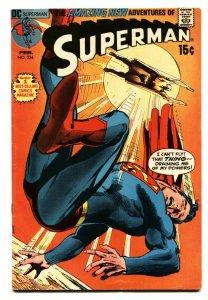 SUPERMAN #234 1971-DC COMICS-DENNY O'NEIL NEAL ADAMS CV FN+