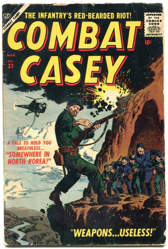 Combat Casey #32 1957- Atlas War- North Korea- Commies G