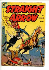 STRAIGHT ARROW  #40-1954-WESTERN-FRED MEAGHER INDIAN ART-vg+