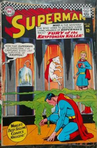 Superman #198 (DC,1967) Condition VG