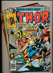 MARVEL LOT of 7- The Mighty THOR #280-284,325326 1978/'79/'82 G/VG (PJ92)