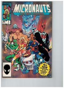 The Micronauts The New Voyages # 1 VF Marvel Comic Book Modern Age Series S78