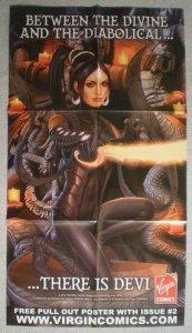 DEVI Promo Poster, Virgin Comics, 16 x 30, 2006, Unused, more Promos in store