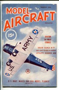 MODEL AIRCRAFT #1-03/1942-ARMY-NAVY-MODEL AIRCRAFT-SOUTHERN STATES-vg