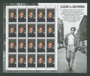 James Dean US Postage Stamp Collector Sheet  1996